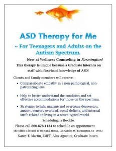 ASD Therapy for Me program poster